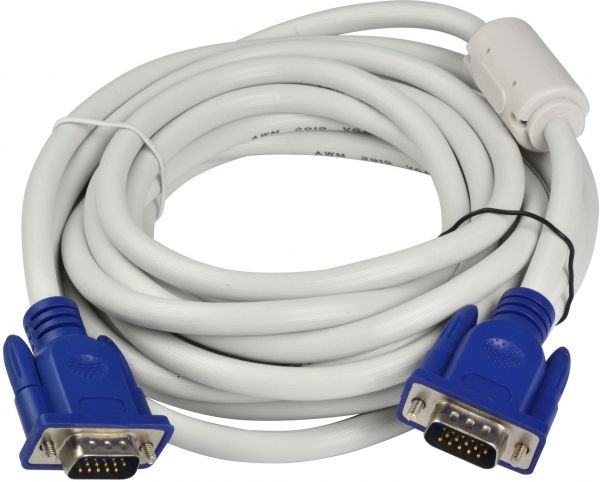 VGA CABLE 3 METER WHITE COLOR 15 PIN MALE TO