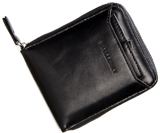 a389bb41 Baellerry Black Leather For Men - Zip Around Wallets