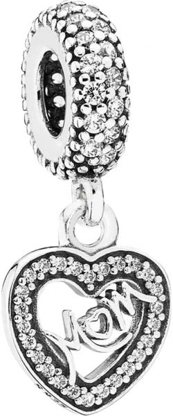 2e9be4aaa Pandora Women's Silver Centre of My Heart Pendant Charm - 791521CZ ...