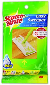 Scotch-Brite Easy Sweeper Wet Disposable Cleaning Cloth Refill, 8 Sheets