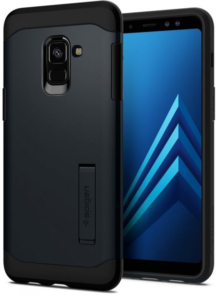 spigen samsung galaxy a8 2018 slim armor kickstand cover case metal slate price review. Black Bedroom Furniture Sets. Home Design Ideas