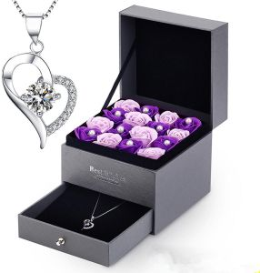 Womens Necklace Sterling 925 Silver For Girls Valentines Day Gifts Birthday With Gift Box