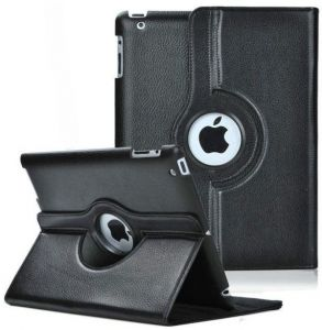 IPAD Air 2 360 Rotating PU Leather Case Cover For Apple IPAD Air 2 Black SAPU