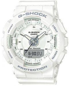 Casio G-Shock Men's White Dial Resin Band Watch - GMA-S130-7ADR