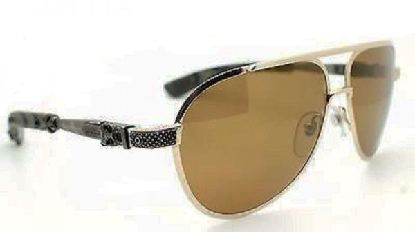 fa3a3325a683 CHROME HEARTS Blade Hummer II sunglasses in Gold brush and Silver ...