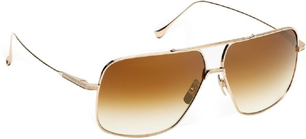 3ca6277d768a DITA FLIGHT 005 Aviator Sunglasses in Gold brushed frame and Brown gradient  lens Unisex