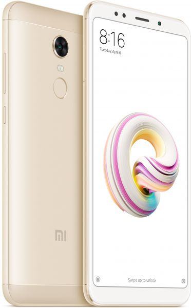 Xiaomi Redmi 5 Plus Dual SIM - 64GB, 4GB RAM, 4G LTE, Gold - International Version