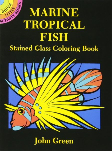 Marine Tropical Fish Stained Glass Coloring Book Dover