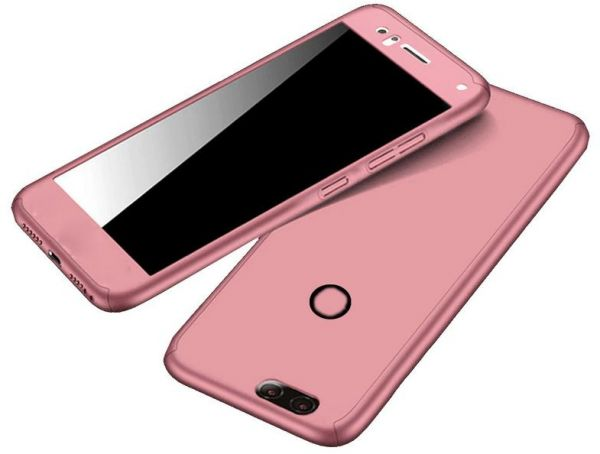 new style 291b8 e6693 Tecno Spark Plus K9 Case 360 Degree 3 pieces Plastic products front , back  And Screen - Rose