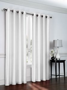 Regal Home Collections Artisan 54 Inch Wide X 84 Long Faux Silk Window Panel With Grommets White