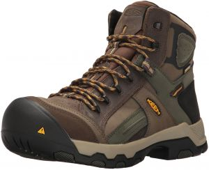 efa41c90f2 KEEN Utility Men s Davenport Mid All Leather Waterproof Industrial and  Construction Shoe