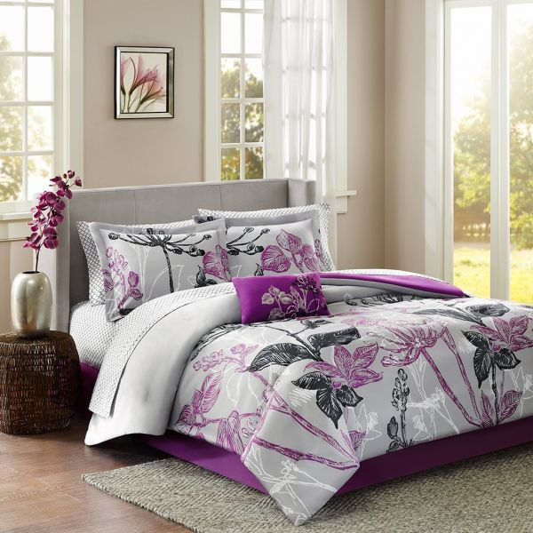 Madison Park Essentials Claremont Twin Size Bed Comforter Set Bed In