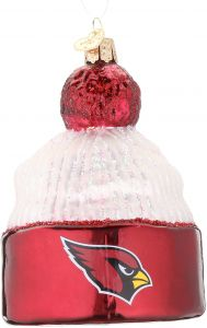 Old World Christmas Arizona Cardinals Beanie Glass Blown Christmas Ornament 9c35d22b9