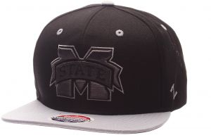 b46140f925b6da Zephyr NCAA Mississippi State Bulldogs Adult Men's Z11 Phantom Snapback Hat,  Adjustable Size, Black/Team Color