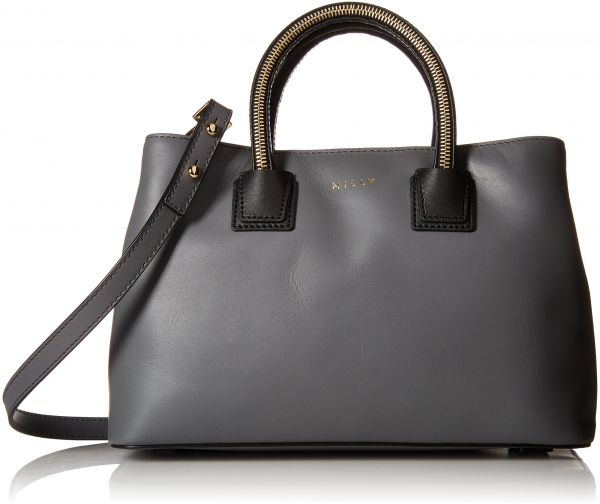 Milly New Logan Sm Zip Tote Convertible Top Handle Bag Grey One Size