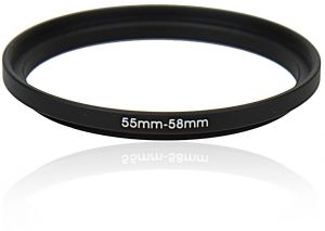 Kiwifotos SU 55-58MM 55mm-58mm Step-up Adapter Ring for Lenses 55mm Lens to 58mm Filter, Hood, Lens Converter and Other Accessories