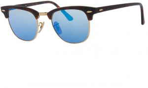 60eec5dd4 Ray-Ban CLUBMASTER - SAND HAVANA/GOLD Frame GREY MIRROR BLUE Lenses 49mm Non -Polarized