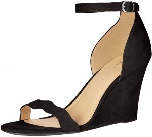 88eaf7143d CL by Chinese Laundry Women's Best Match Wedge Pump Sandal, Black Super  Suede, 6.5 M US