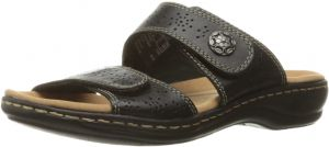 c8e9c8eeab3 Buy clarks womens leisa higley slide sandal mens blue black