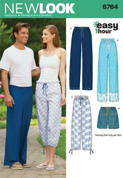 Souq | New Look Sewing Pattern 6764 Miss/Men Separates, Size A (XS ...