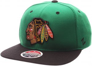 official photos 3183a 897fc Zephyr NHL Chicago Blackhawks Men s Z11 Snapback Hat, One Size, Kelly