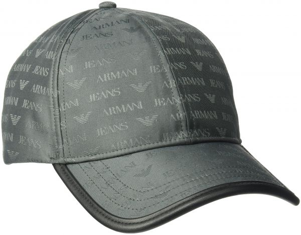8595ebc8d5e Armani Jeans Men s All Over Logo Jacquard Polyester Baseball Cap ...