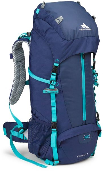 cf9a1c93dd8 High Sierra Women s Summit 40L Top LoadBackpack Pack, High-Performance Pack  for Backpacking, Hiking, Camping, with Rain Fly, True Navy True Navy Tropic  Teal