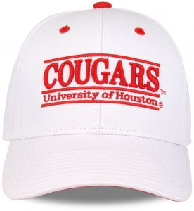 brand new ed979 66c08 The Game NCAA Houston Cougars Unisex NCAA bar Design Hat, White, Adjustable