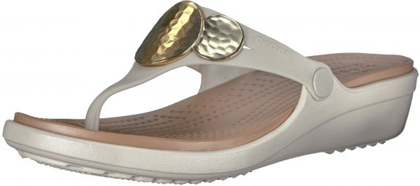 47d8be08a88 crocs Women s Sanrah Embellished Flip Wedge Sandal