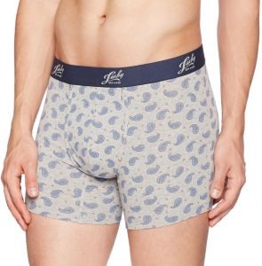e46758c365ed Lucky Brand Men's Standard Printed Stretch Boxer Brief-Pouch, Heather Grey,  X-Large