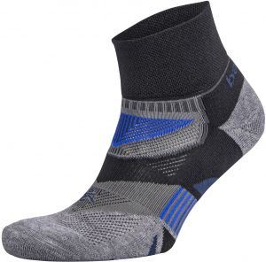 Balega Enduro V Tech Quarter Socks For Men And Women 1 Pair Black Heather Grey X Large