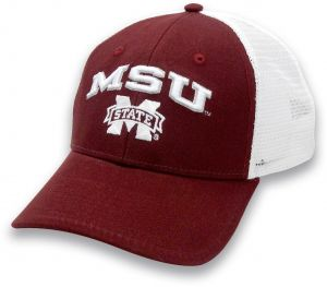 online store 0ea16 d966f The Game NCAA Mississippi State Bulldogs Adult Unisex Everyday Trucker Mesh  Hat, Adjustable, Maroon