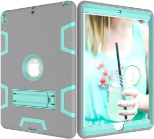 f3faae9069d Hybrid Shockproof Stand Case Armor Defender Cover For Apple iPad Mini 4  Grey - Teal