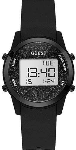 e8002aacbf23 Guess Women s Black Dial Silicone Band Watch - W1031L2. by Guess