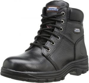100% authentic factory outlet amazon Skechers for Work Women's Workshire Peril Boot, Black, 9.5 M US