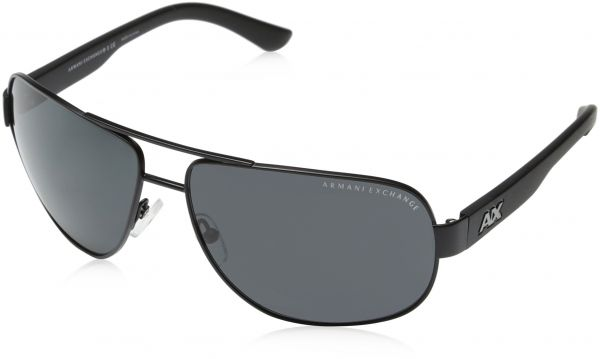 f91537ba248 Armani Exchange Men s Aviator Satin Black Sunglasses - 0AX2012S 62