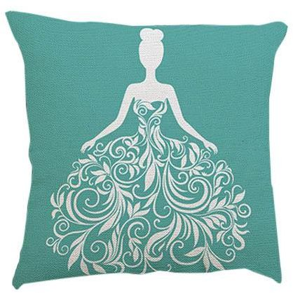 سوق تسوق Wedding Dress Collection Green Decorative Cushion Cover Gorgeous Teal Green Decorative Pillows