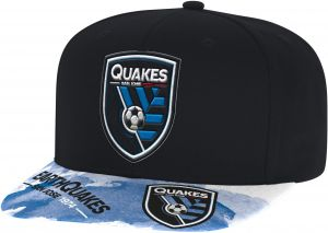 475d8a60a6e53 adidas MLS San Jose Earthquakes Adult Men Sublimated Flat Brim Snapback Hat