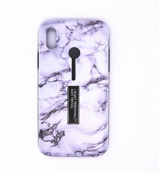 Apple iPhone X Matte Shockproof Ring Stand PC TPU Back Case Cover With  Flower Design