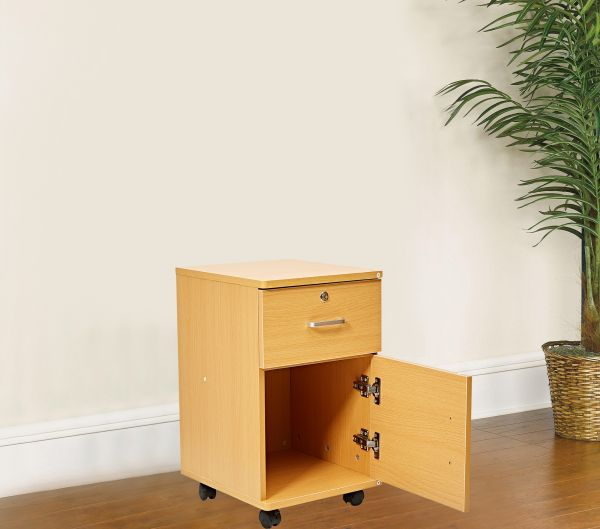 Vogue Small Cabinet With Wheels And 2 Drawers   Klbst 31012