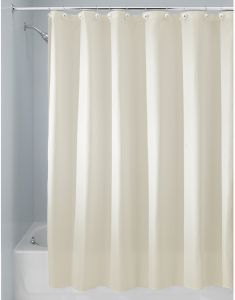InterDesign Carlton Soft Fabric Shower Curtain 72 Inch By 96 Yellow 23081