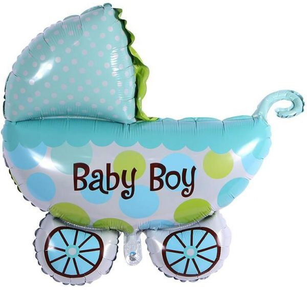 BESTPICKS 72x78 Cms Foil Balloon For New Born Baby Boy Birthday Party Home Decoration