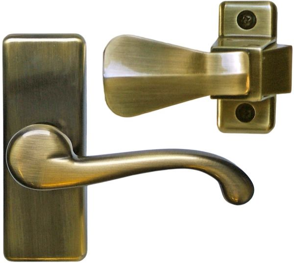 Ideal Security Gl Lever Set For Storm And Screen Doors A Touch Of Cl Easy To Install Antique Br