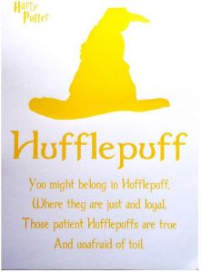 harry potter the sorting hat quotes to house of hufflepuff a
