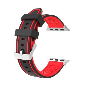 bb2c751b8d3 Buy b r bands 22mm black silicone watch band strap orange stitch ...