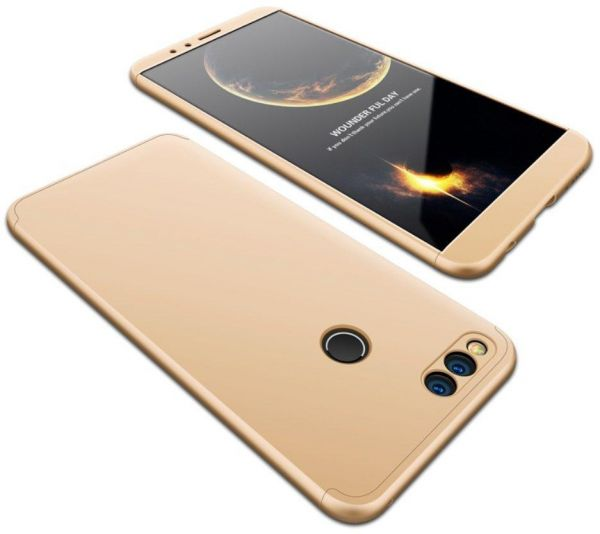 premium selection 9f8f2 19217 Huawei Honor 7X Case, fashion ultra Slim Gkk 360 Full Protection Cover Case  - Gold
