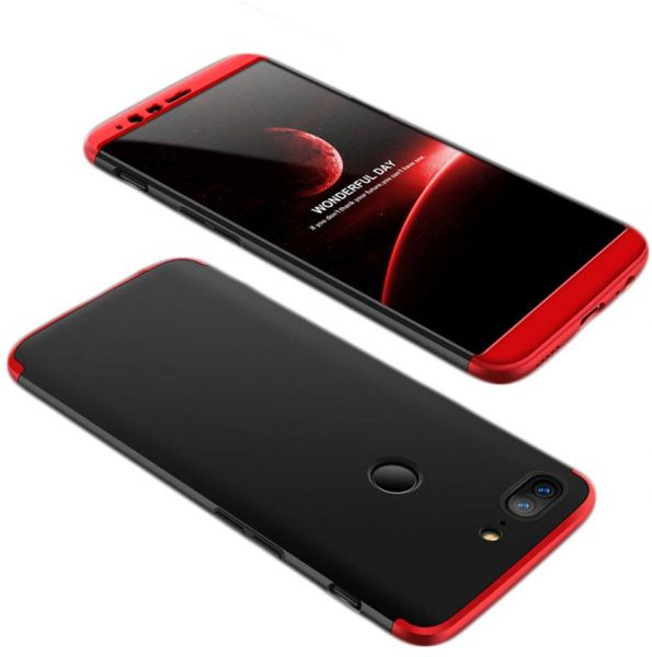 reputable site c0b5a 88967 OnePlus 5T Case, fashion ultra Slim Gkk 360 Full Protection Cover Case -  Red & Black