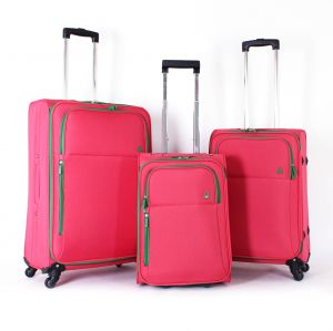 United Colors Of Benetton Luggage Trolley Bag Set 3 Pcs Pink 58073313 005