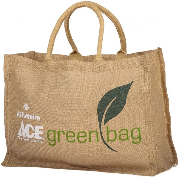 Green Jute Eco Friendly Bag For Shopping Brown