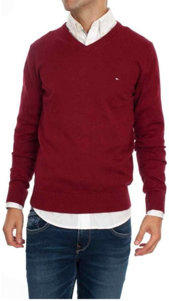 Polo Ralph Lauren Maroon V Neck Pullover Top For Men. by Polo Ralph Lauren,  Tops -